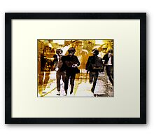 Running Under the Gun Framed Print