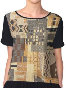Fabric Art, Brown Rustic, Rush Hour Chiffon Top