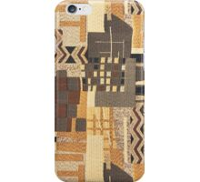 Fabric Art, Brown Rustic, Rush Hour iPhone Case/Skin