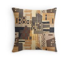 Fabric Art, Brown Rustic, Rush Hour Throw Pillow