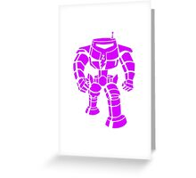 Manbot - Purple Variant Greeting Card