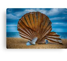 Aldeburgh Scallop Shell Canvas Print