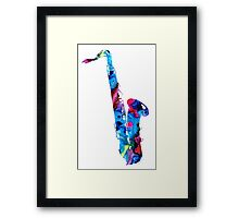 Colorful Saxophone 2 By Sharon Cummings Framed Print