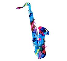 Colorful Saxophone 2 By Sharon Cummings Photographic Print