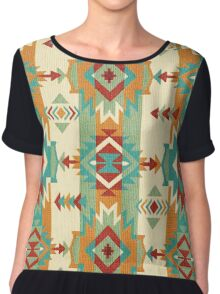 Fabric Art, Navajo Tribal, Ethnic Inspired Native American Chiffon Top