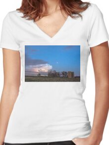 Country Storm Gone By Women's Fitted V-Neck T-Shirt