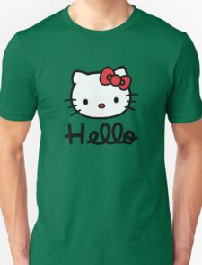 Hello little cute kitty cat Unisex T-Shirt