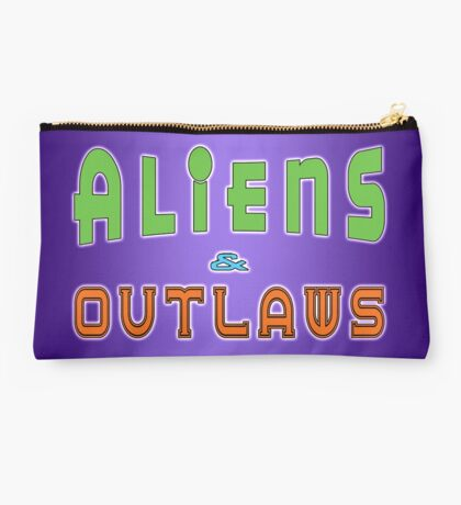 Aliens and Outlaws Logo Studio Pouch