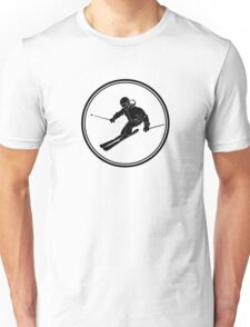 Mens Snow Skiing Unisex T-Shirt
