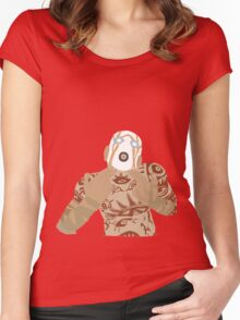 Border Lands Simple Physco Women's Fitted Scoop T-Shirt