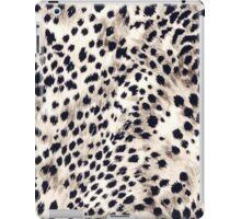 Fabric Art, Faux Animal Fur, Snow Leopard Print iPad Case/Skin