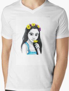 Selena Flower Crown Mens V-Neck T-Shirt
