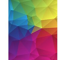 abstract colorful pattern geometric polygon design Photographic Print