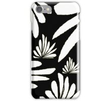 Black white fern floral abstract print iPhone Case/Skin