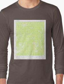 USGS TOPO Map Alabama AL Hogglesville 304170 1980 24000 Long Sleeve T-Shirt