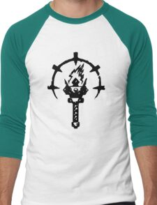 Iron Crowned Torch Men's Baseball ¾ T-Shirt