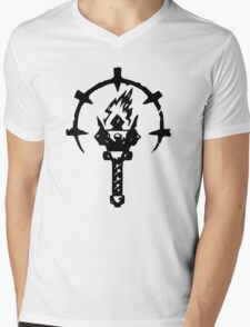 Iron Crowned Torch Mens V-Neck T-Shirt