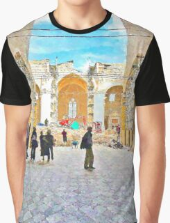 L'Aquila: collapsed church Graphic T-Shirt
