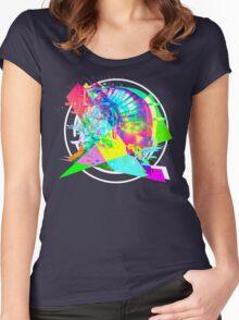 Daft Punk'd: Derezzed_04 Women's Fitted Scoop T-Shirt