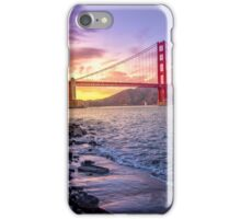 Golden Gate Sunset iPhone Case/Skin