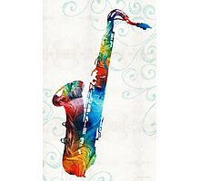 Colorful Saxophone 3 by Sharon Cummings Photographic Print