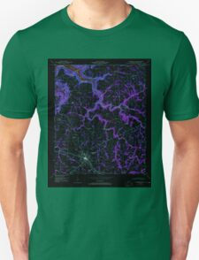 USGS TOPO Map Alabama AL Albertville 303086 1947 24000 Inverted Unisex T-Shirt