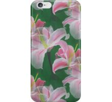 Lilies Acrylic Painting Pattern Design iPhone Case/Skin