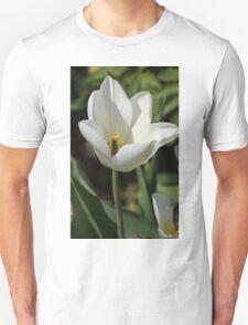 An Open White Tulip T-Shirt