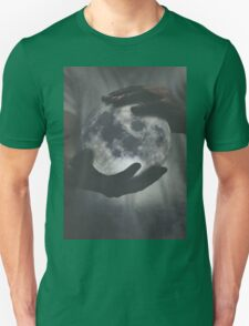moon and hand Unisex T-Shirt