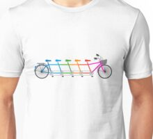 colorful tandem bicycle, team bike Unisex T-Shirt