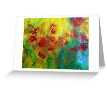 Red and Orange Poppies Greeting Card