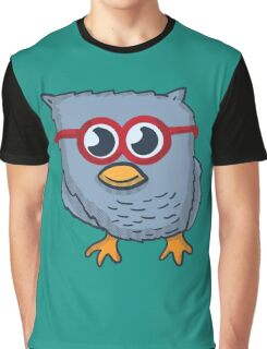Red Eyeglasses Owl Graphic T-Shirt