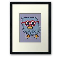 Red Eyeglasses Owl Framed Print