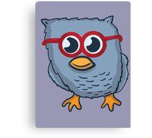 Red Eyeglasses Owl Canvas Print