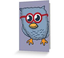 Red Eyeglasses Owl Greeting Card