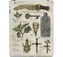 (Super)natural History - Hunter's artefacts iPad Case/Skin