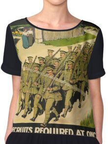 Vintage poster - British Military Chiffon Top