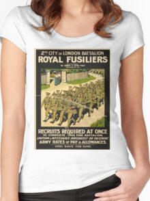 Vintage poster - British Military Women's Fitted Scoop T-Shirt