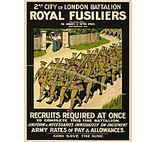Vintage poster - British Military Photographic Print