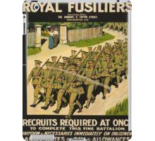 Vintage poster - British Military iPad Case/Skin