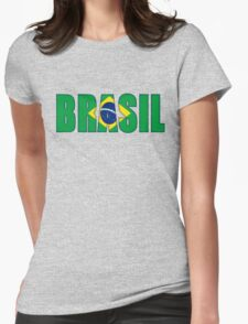 Brasil Flag Womens Fitted T-Shirt