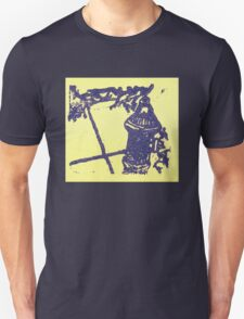 blue and gold hydrant Unisex T-Shirt