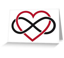 Infinity heart, never ending love Greeting Card