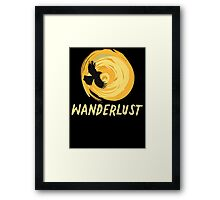 Wanderlust T Shirt Framed Print