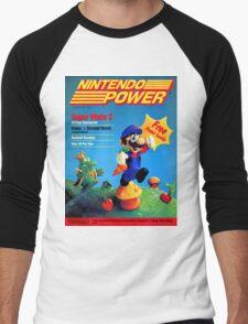 Nintendo Power - July/August 1988 Men's Baseball ¾ T-Shirt