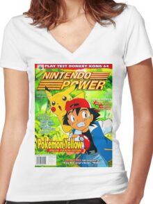 Nintendo Power - Volume 125 Women's Fitted V-Neck T-Shirt