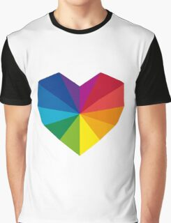 colorful geometric heart Graphic T-Shirt