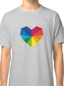 colorful geometric heart Classic T-Shirt