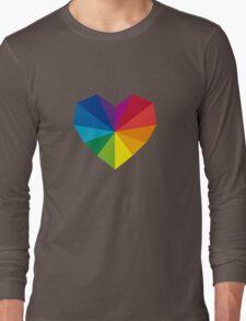 colorful geometric heart Long Sleeve T-Shirt