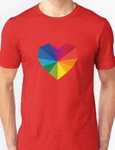 colorful geometric heart Unisex T-Shirt